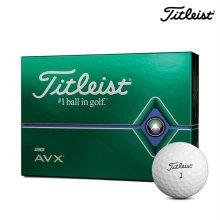 타이틀리스트 AVX 3피스 골프공 12알 화이트 골프볼 화이트볼 골프용품 필드용품 TITLEIST AVX GOLF BALL