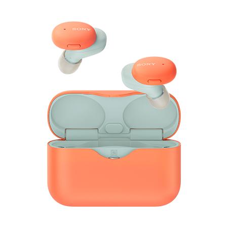 SONY 투톤 컬러 블루투스 이어폰[오렌지][WF-H800]