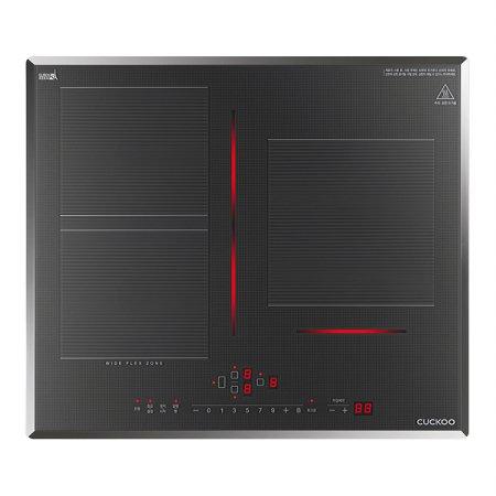 3구 인덕션레인지 CIR-CLT301FG [와이드 플렉스 존/최대 3,400W화력/21중 안전장치]