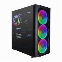 대양케이스 ME NO.8 RGB 강화유리 케이스 블랙