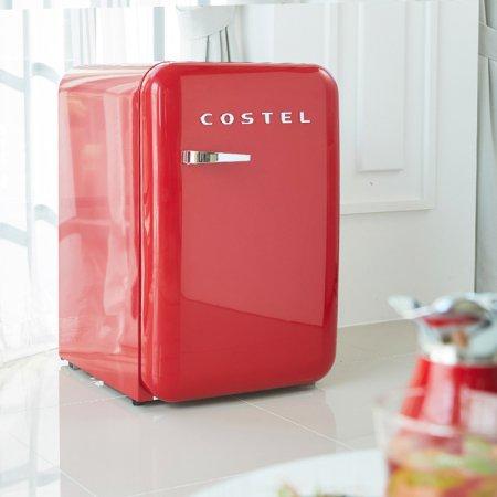 CRS-107HA / 107L 모던 레트로 냉장고 (빈티지 레드)