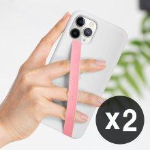 1+1 신지루프 실리콘 핸드폰 핑거스트랩 - 핑크(2개)
