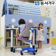 도모 벙커침대+수납계단+2000가드+미니입식책상세트+슬라이딩옷장+슈퍼싱글 매트리스 DF637835