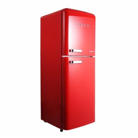 코코일렉 200L 간냉식 영 레트로 디자인 소형 냉장고 / CAM20RD 200L