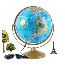 30cm 키즈 파인 조명 지구본 360도회전 유아용지구본