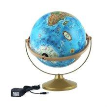 30cm 지형 파인 조명 지구본 360도회전 교육용지구본