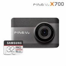 64GB로 메모리업 파인뷰 X700 전후방 FHD 2채널블랙박스 32GB