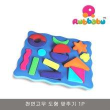 천연고무 도형 맞추기 1P 퍼즐 모형 아기 장난감