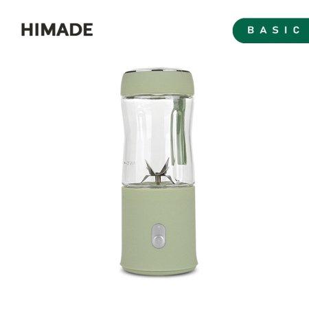 휴대용 미니 믹서기 HBL-MM60G (380ml, 스테인레스 6중 칼날, 2200mAh 리튬 배터리, 올리브그린)