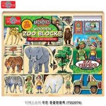 티에스슈어 우든 동물원블록 자석블럭 퍼즐블럭 블록