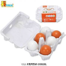 원목 장난감시리즈 VIGA 원목 모형 계란 6p
