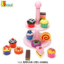 원목 장난감시리즈 VIGA 원목 컵 케이크와 스탠드
