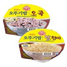오뚜기 맛있는 오뚜기밥 찰현미 210g 12입+오곡 210g 12입
