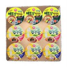 선물)오뚜기 컵누들 매콤한맛3입+우동맛3입+베트남쌀국수3입