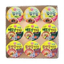 선물)오뚜기 컵누들 똠양꿍3입+매콤한맛3입+베트남쌀국수3입