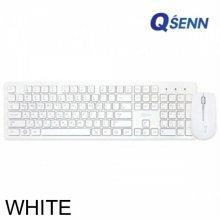 QSENN MK-150 무선 키보드 마우스세트 화이트