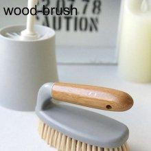 욕실 타일 청소에 제격 우드손잡이 다용도 브러쉬
