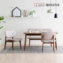 [AR체험][비밀특가] 스칸딕 패밀리 원목 4인식탁세트(벤치1,의자2)