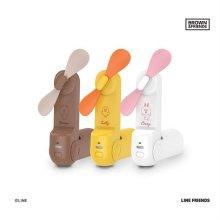 라인프렌즈 스윙 미니 선풍기_브라운 KHN-F8-MINI_BR [최대21시간사용/ 저소음/ 날개자동멈춤기능]