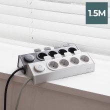 이지클릭 멀티탭 4구 1.5M LFS-HA20 (다크그레이)
