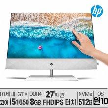 [사은품]HP 파빌리온 27-d0721kr 터치스크린 10세대 i5/윈10/IPS/무선충전