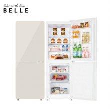 [하이마트 설치] The New 글라스 냉장고 W20CKBB 글로우 크림 (181L)