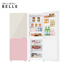 [하이마트 설치] The New 글라스 냉장고 W20CKBA 글로우 크림&핑크 (181L)