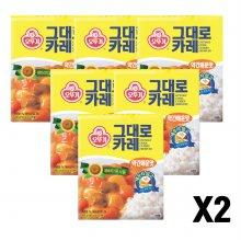 오뚜기그대로카레(약간 매운맛) 200G 12개
