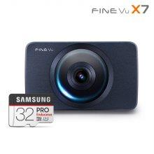 [히든특가] 파인뷰 X7 2배저장 스마트타임랩스 FHD/FHD 2채널블랙박스 64GB