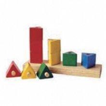 삼각기둥쌓기 블록 교육용 장난감/647C55