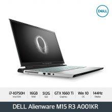 [다운로드 3% 쿠폰] Alienware M15 R3 A001KR [10th i7/16GB/15.6/NVMe 512GB/GTX 1660Ti/ WIN10]