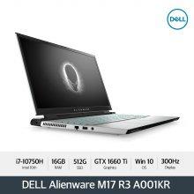 [다운로드 3% 쿠폰] Alienware M17 R3 A001KR[i7-10750H/300Hz/16G/512G/GTX1660Ti/WIN10]