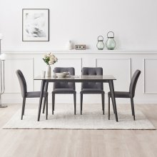 오슬로 세라믹 4인용 식탁세트(의자2+벤치1) DF918369