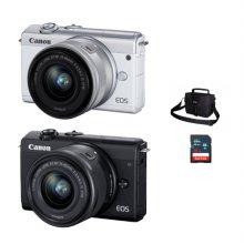 [가방+16G메모리 증정]캐논 EOS-M200 미러리스 카메라 렌즈KIT[블랙][본체+15-45mm IS STM]