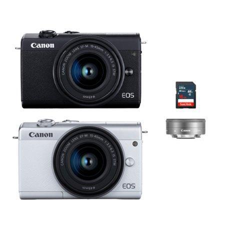 [가방+16G메모리 증정]캐논 EOS-M200 미러리스 카메라 더블렌즈KIT[본체+15-45mm+22mm IS STM]
