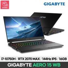 기가바이트 AERO 15 WB i7-10750H/RTX 2070 MAX-Q/144Hz IPS/16GB