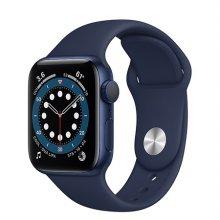 애플워치 6 GPS 40mm 블루 알루미늄 케이스 딥네이비스포츠밴드