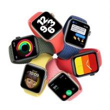 [예약판매][10/5부터순차배송]애플워치SE/셀룰러/40mm/실버/알루미늄/딥네이비스포츠루프/MYEG2KH/A