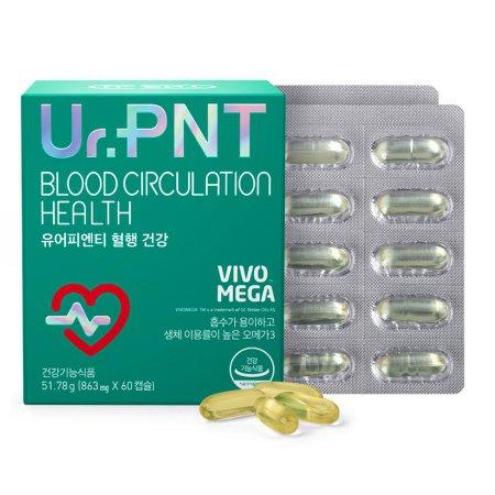GC녹십자웰빙 유어피엔티 혈행 건강 알티지오메가3 60캡슐