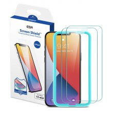 [사전예약특가]ESR 아이폰12 mini 가이드 풀커버 강화유리 2팩