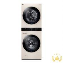 워시타워 오브제 컬렉션 세탁기(24kg)+건조기(16kg) 세트 W16EE (원바디 플랫 디자인, 원바디 런드리 컨트롤, 건조 준비기능, 네이처 베이지)