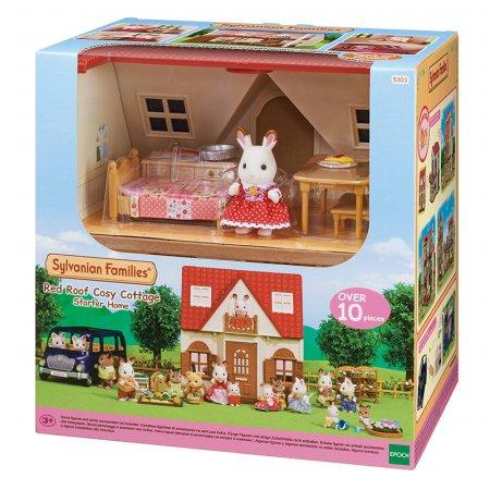 ☆특가☆2020 NEW 실바니안 5303-초콜릿토끼의 빨간지붕이층집