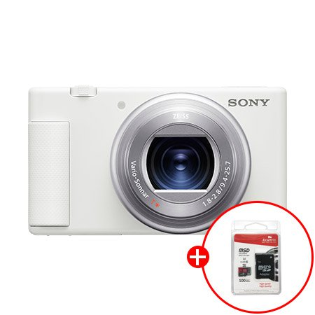 [32G SD카드증정]컴팩트형 브이로그 카메라 32기가 패키지[화이트][ZV-1]