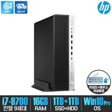 HP EliteDesk 800 G5 SFF/i7-9700/16G/NVMe1TB+HDD1TB/ Win10Pro/사무용pc