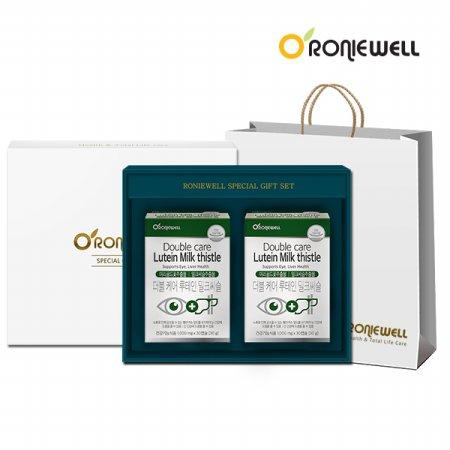 더블케어 루테인 밀크씨슬 30캡슐 x 2개 선물세트 (총2개월분)