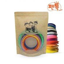 뉴펜톡 3D펜 재료[고온용]PLA 5m*20색 필라멘트팩