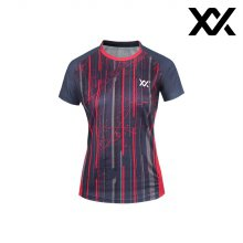 MAXX 배드민턴 여자 반팔 트레이닝 티셔츠 그레이