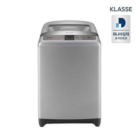 공기방울 일반 세탁기 NWF15GDSK (15kg, 강화유리, 그레이)