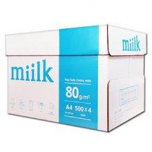 밀크 A4용지 80g 1박스(2000매) Miilk