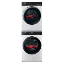 드럼 세탁기(23kg)+건조기(17kg) 세트 TMWE230-KVK+HGXM170-KVK (직렬설치, 새틴 화이트)